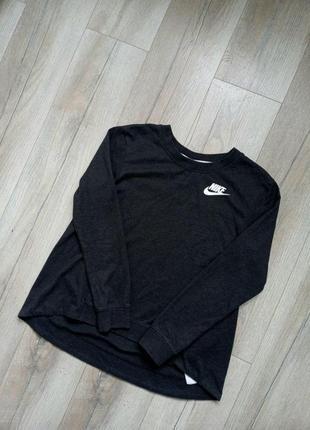 Базовый серый свитшот он бренда nike