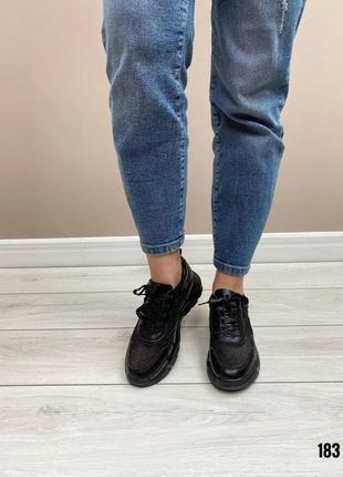 Кросовки лётные натуральная кожа чёрные7 фото