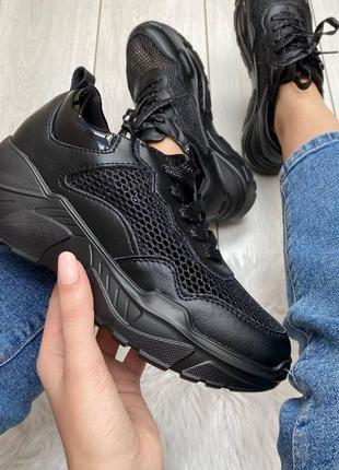 Кросовки лётные натуральная кожа чёрные10 фото