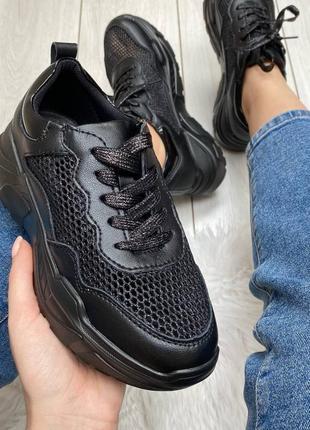 Кросовки лётные натуральная кожа чёрные6 фото