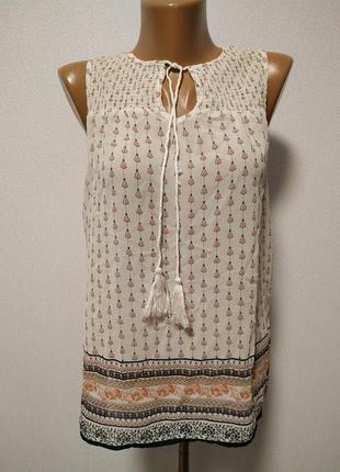 Блуза с завязками шифоновая / большая распродажа!