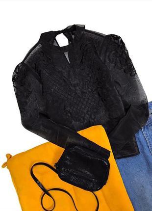 Красивая прозрачная блузка с органзы вышивка