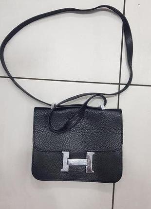 Hermes женская сумка, кожа!