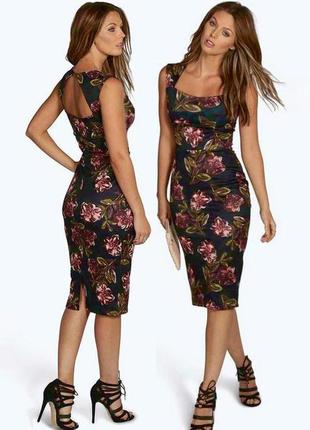 Распродажа платье boohoo миди с полуоткрытой спиной с asos
