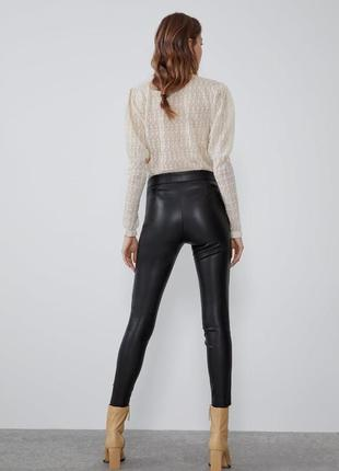 Кожаные штаны лосины zara3 фото