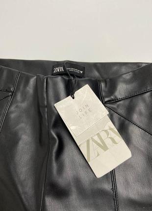 Кожаные штаны лосины zara6 фото