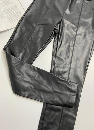 Кожаные штаны лосины zara5 фото
