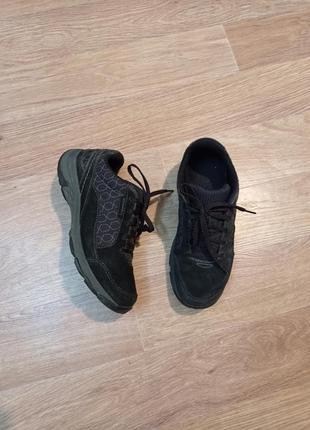 Кроссовки замшевые