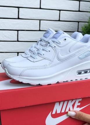 Кроссовки женские nike air max 90 белые / кросівки жіночі найк аир макс білі кроссы