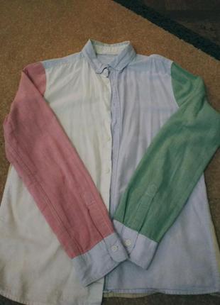Четырех цветная стильная рубашка