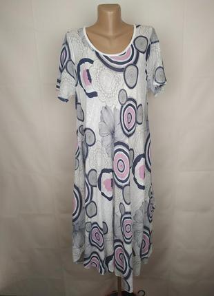 Платье натуральное красивое итальянское uk 18/46/xxl