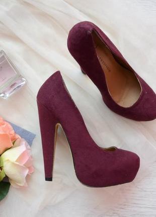 туфли цвета марсала 6