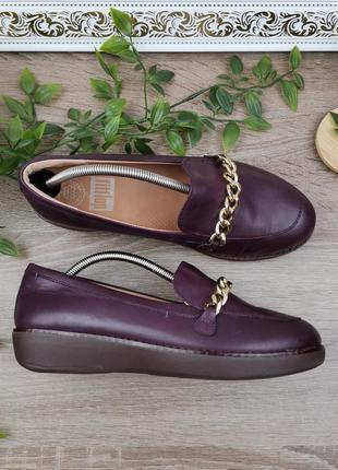 🌿37,5-38🌿европа🇪🇺 fitflop. кожа. комфортные фирменные туфли
