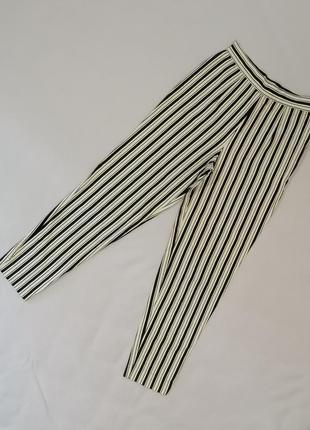 🍬s. oliven брюки 7/8 в вертикальную полоску хлопок