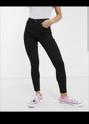 Чёрные джинсы скинни, skinny, завышенная талия asos, штаны