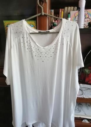 Белая футболка большой размер