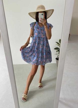Платье в цветочек шифон