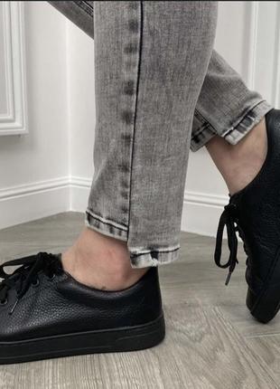 Кроссовки кожа