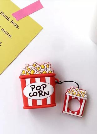 Крутой чехол для наушников airpods, попкорн 🍿1 фото