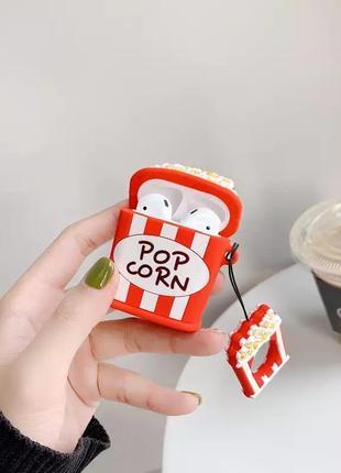 Крутой чехол для наушников airpods, попкорн 🍿2 фото