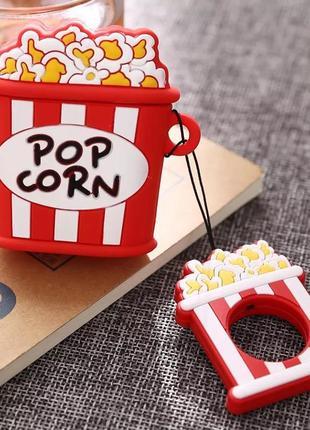 Крутой чехол для наушников airpods, попкорн 🍿3 фото