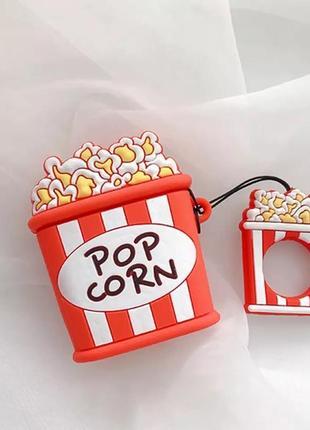 Крутой чехол для наушников airpods, попкорн 🍿4 фото
