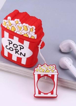 Крутой чехол для наушников airpods, попкорн 🍿6 фото