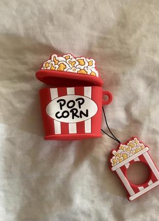Крутой чехол для наушников airpods, попкорн 🍿7 фото
