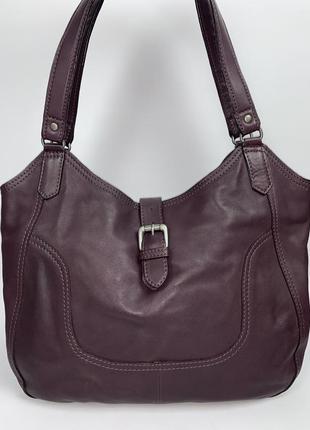 Англия! отличная кожаная фирменная обьемная сумочка на плечо white stuffe.