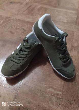 Кожаные(замшевые) кроссовки, кеды, мокасины next.