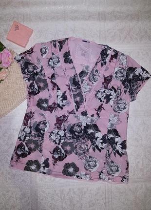 Блуза хлопок розы кружево