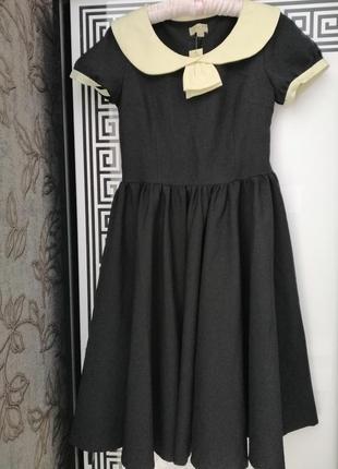 Сукня чорного кольору з коміром розмір виробника с/м, нова з біркою 💃👠👠