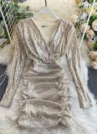 Вечернее платье с пайетками,шикарное платье