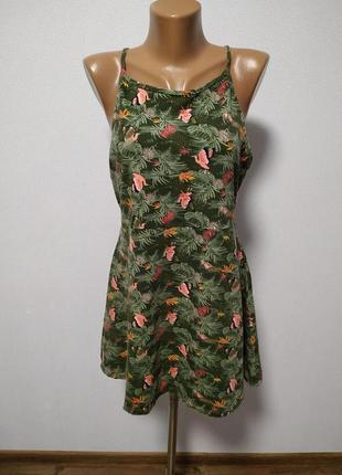 Платье цветочное с интересной спинкой / большая распродажа!