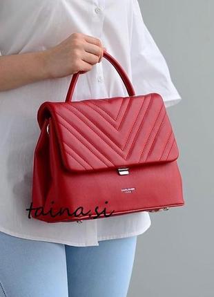 Красный клатч david jones 6250-1t красная сумка стеганая сумка среднего размера