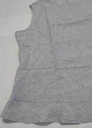 Женская блуза блузка топ xl-2xl-3xl, наш 52-54-56 лен лён большой размер