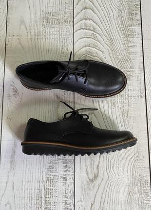Кожаные туфли на шнурках ecco pp 38