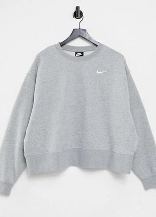 Nike базовый серый худи кофта свитшот на флисе большого размера curve 3xl