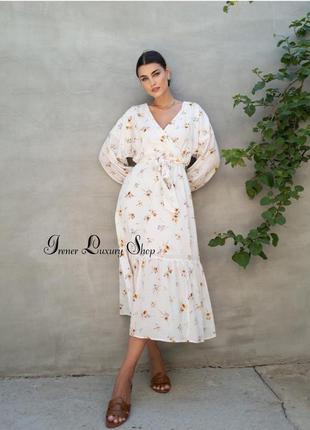 Мегакрутое платье h&m из органического хлопка 48-50-52, 52-54