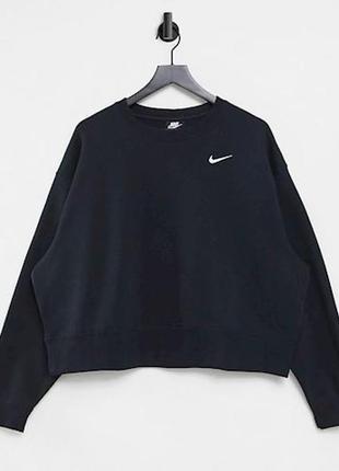 Nike базовый свитшот кофта чёрная флис худи спортивная большого размера 3хл