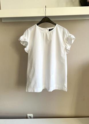 Лаконичная хлопковая блуза-топ