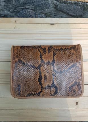 Сумка (клатч) из настоящей натуральной змеиной кожи