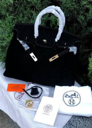 Женская замшевая сумка birkin 35