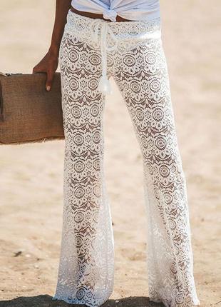 Пляжные ажурные брюки