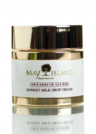Гелеобразный крем на основе ослиного молока may island donkey milk drop cream, 70 мл