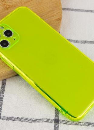 Чехол неоновый  силиконовый для айфон iphone 11 pro