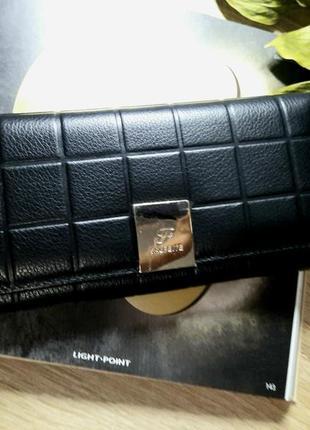 Кожаный кошелек с монетницей на молнии  salfeite italian style
