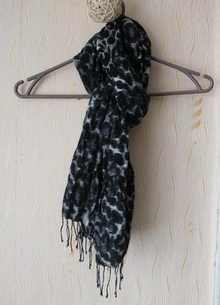 Леопардовый шарф 100% шерсть