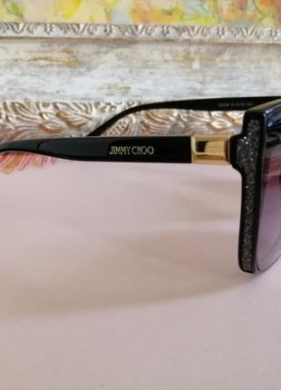 Эксклюзивные чёрные брендовые солнцезащитные женские очки лисички 20214 фото