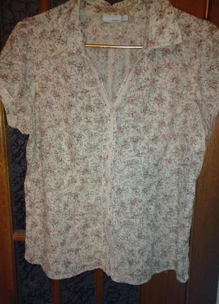 Блузка летняя фирменная. размер 44-46-48. next. 100% cotton.